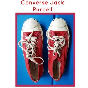Converse Red Jack Purcell Sneakers